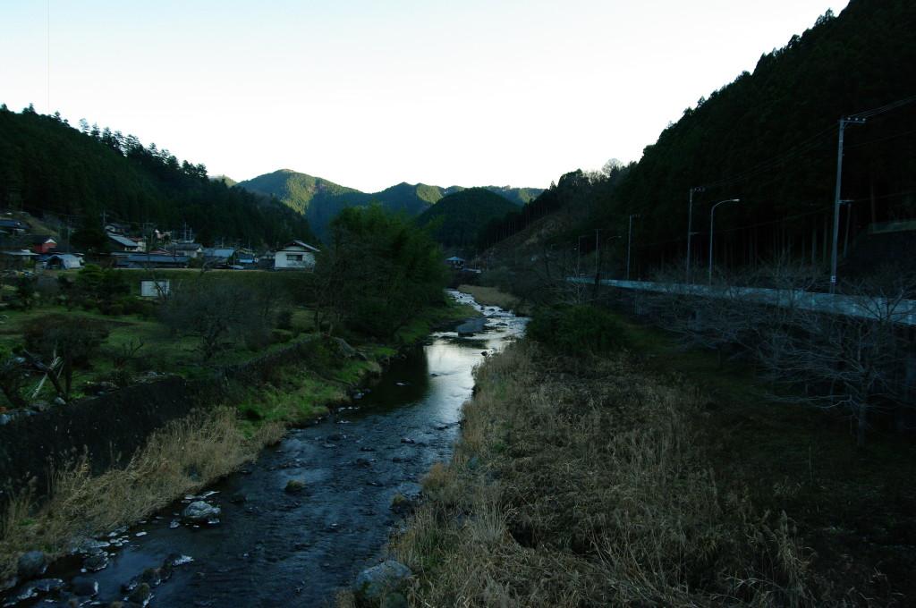 名栗川沿いの旧名栗村紙里
