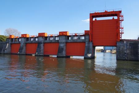 旧岩淵水門 関東大震災でもびくともしなかった