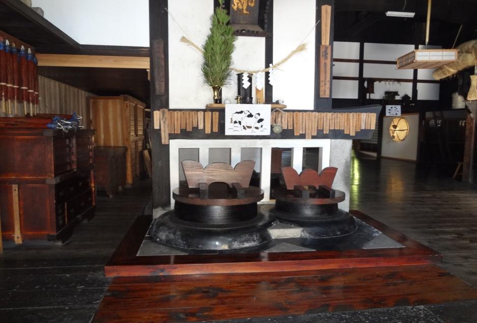 宿坊の台所 荒神様がありお釜も昔のまま使われている