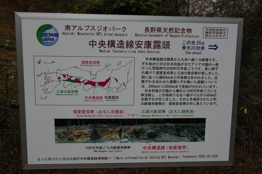 中央構造線(長野県安康)